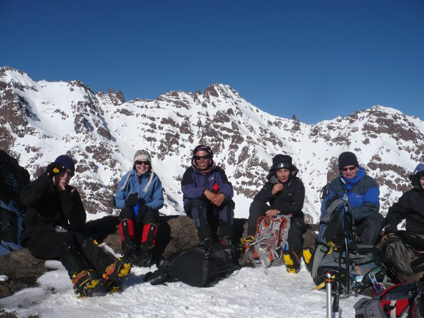 Sunny Toubkal in winter